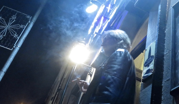 Gareth smoking, 3/12/17