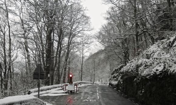 Lee Wood Road snow, 29/12/17