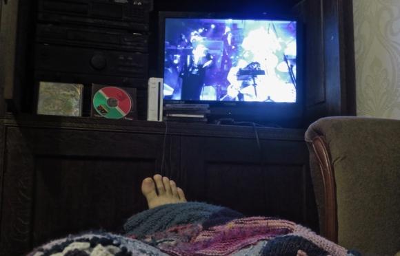 Watching DVD, 19/1/18