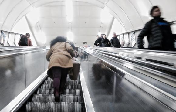 King's Cross escalator, 5/2/18