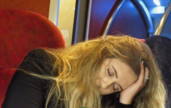 Asleep on train, 20/3/18