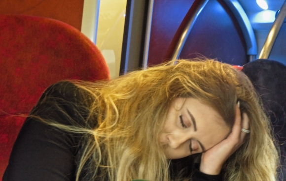 Asleep on train, 20/3/18