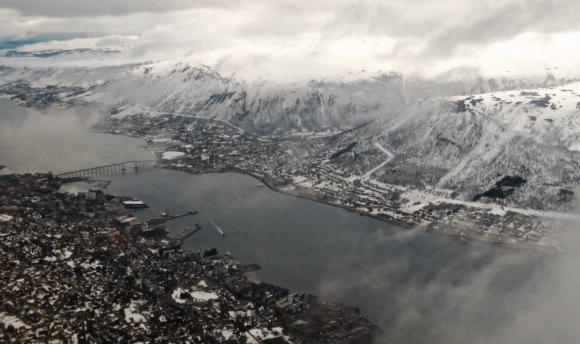 Tromsø after take-off, 26/4/18