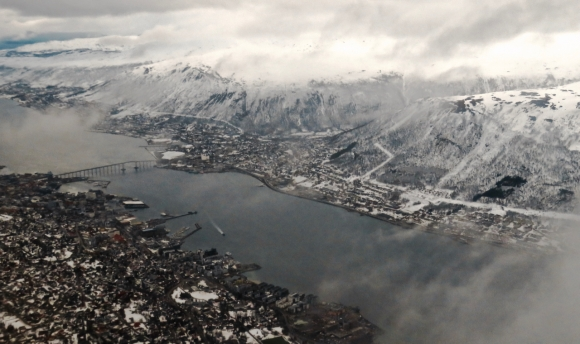 Tromsø after take-off, 26/4/18
