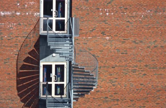UiT fire exit, 23/4/18