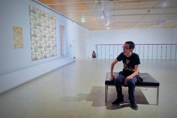 Joe in Whitworth gallery, 23/7/18