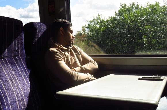 Asleep on train, 31/7/18