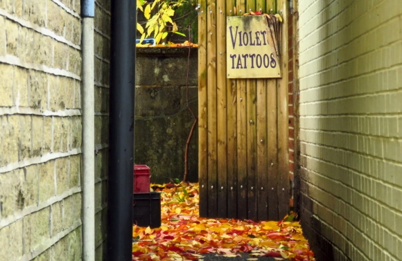 Violet's tattoos, 12/10/18