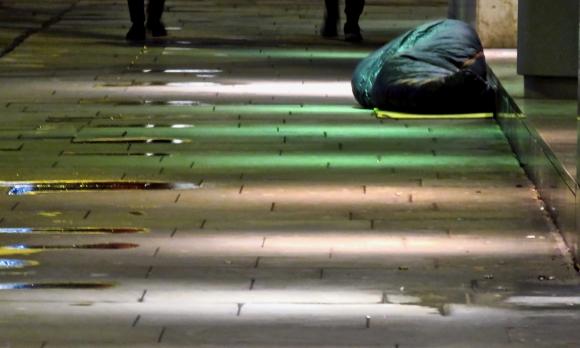 Sleeping bag, Cross St., 23/1/19