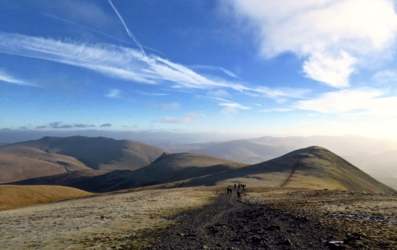View east from Skiddaw, 2/1/19