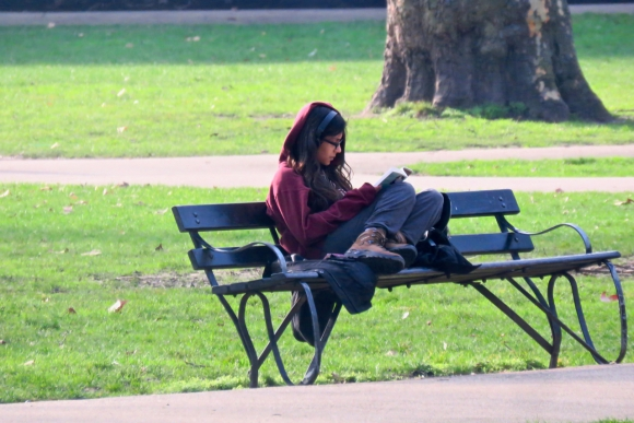 Reading in Russell Square, 31/1/19