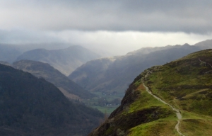Borrowdale from Catbells, 19/3/19