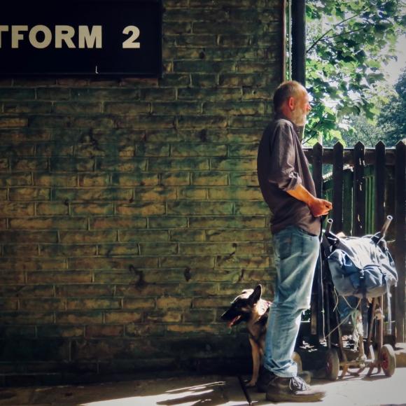 Man and dog, 24/8/19