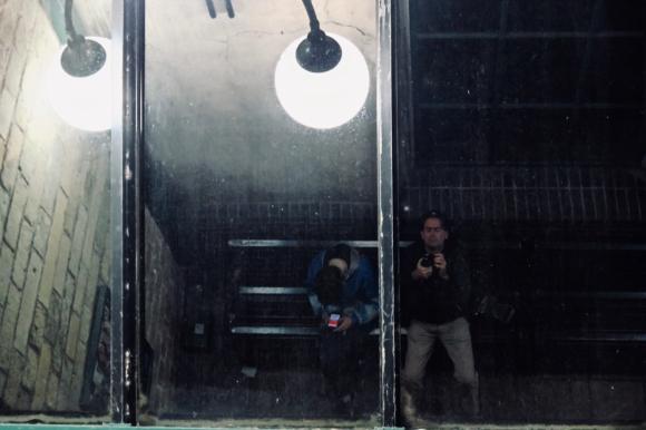 Selfie, bus station, 19/8/19