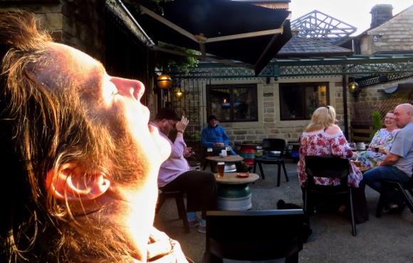 Clare in sun, 13/9/19