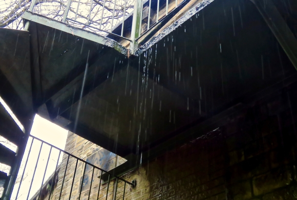 Rainy fire escape, 26/10/19