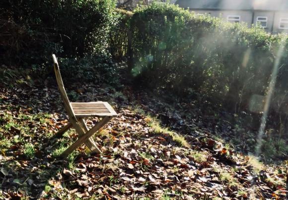 Chair in garden, 4/12/19