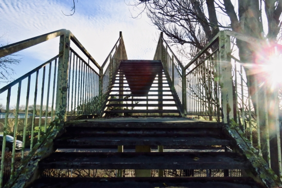 Saltney footbridge, 4/1/20