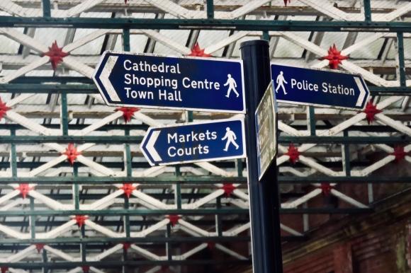 Blackburn signpost, 29/2/20