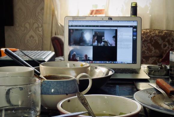 Dinner videoconference, 19/4/20