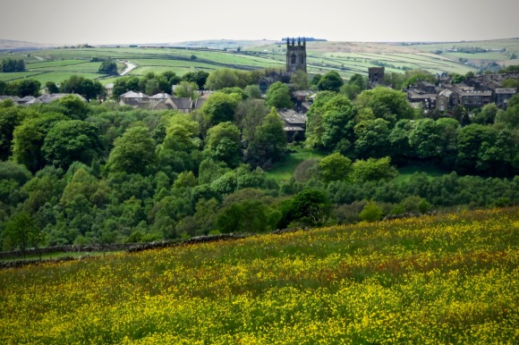 Heptonstall and buttercups, 16/5/20