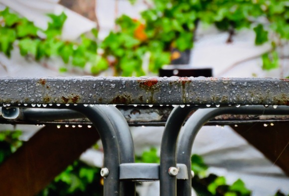 Table in rain, 30/9/20