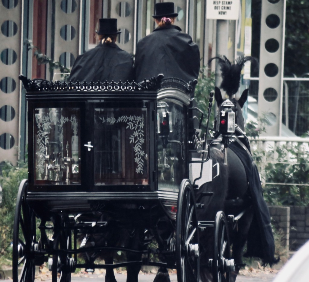 Horse drawn hearse, 11/10/20