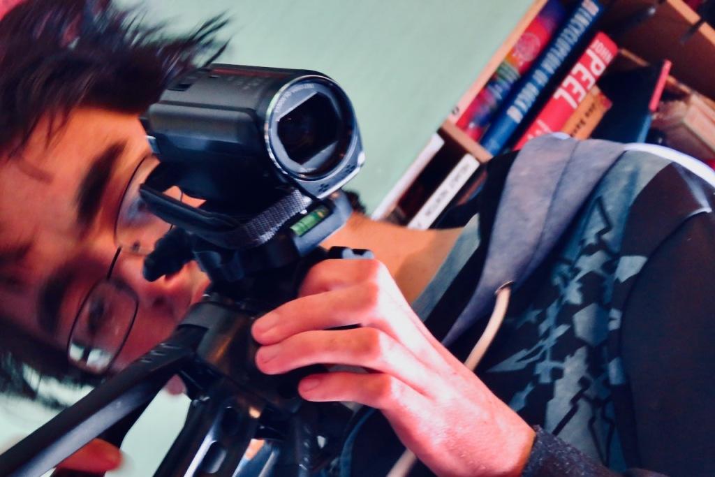 Joe filming me, 26/10/20