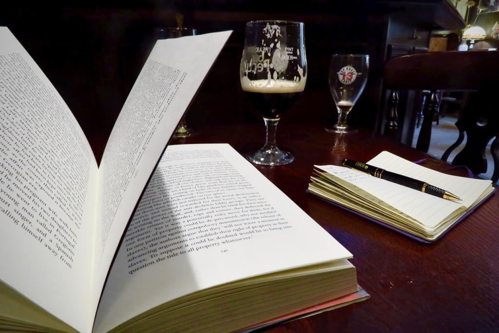Reading in pub, 21/10/20