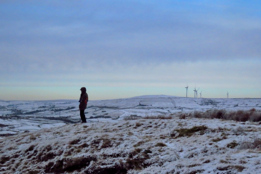 Joe on Brown Wardle Hill, 24/1/21
