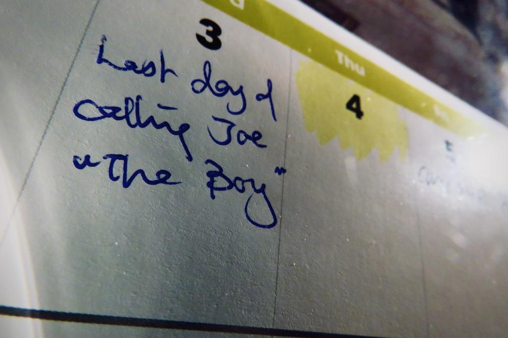 Calendar reminder, 3/3/21