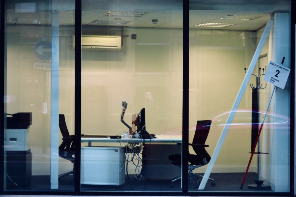 Empty office, Booth St, 19/5/21