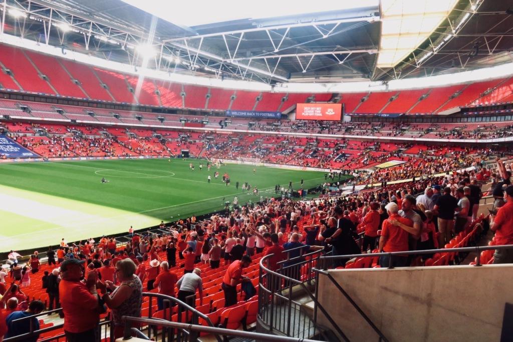 Morecambe at Wembley, 31/5/21