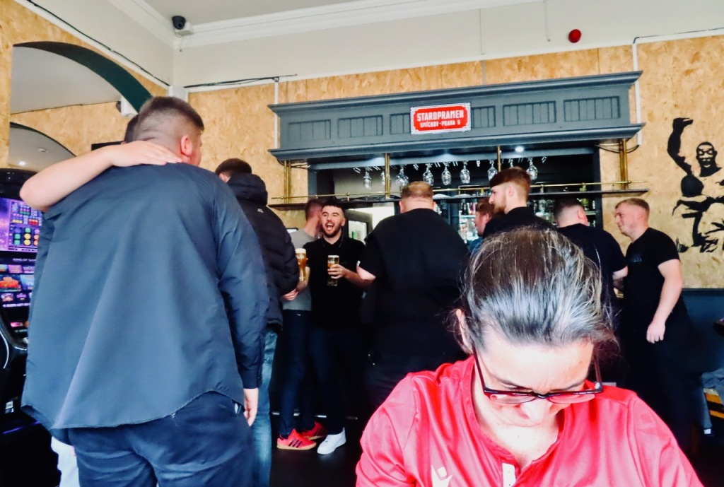 Morecambe lads and Clare, 18/9/21